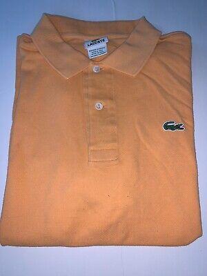 Lacoste Men's Size 4 Medium Peach Polo Short Sleeve Shirt EUC