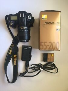 Nikon D90 with 2 lens and charger - Used