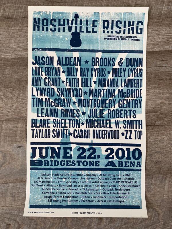 Nashville Rising Tim McGraw Taylor Swift June 22, 2010 Hatch Show Poster