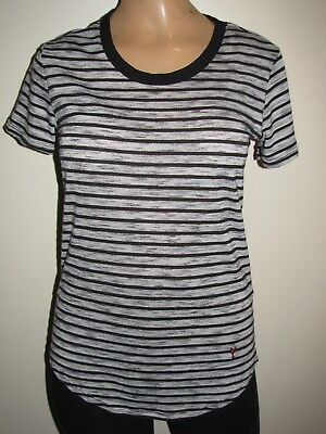 Cole Haan Pinch Maine Classic Womens Striped T Shirt Size Xs Lobster