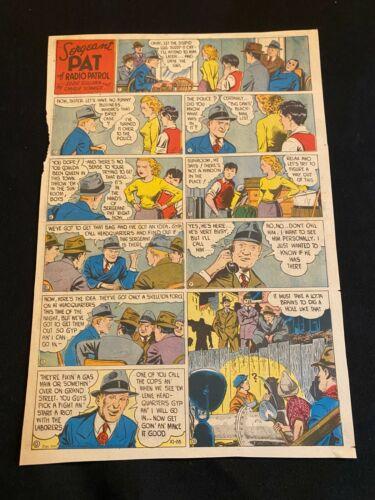#12 SERGEANT PAT OF RADIO PATROL Lot of 8 Sunday Tab Full Page Strip 1945