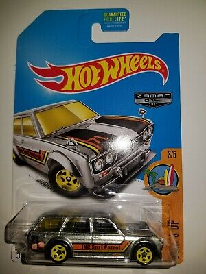 Hot Wheels 2017 Walmart Exclusive ZAMAC '71 Datsun Bluebird 510 Wagon BEST DEAL!
