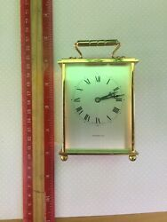 VINTAGE TIFFANY & CO. Swiss Made Brass/Quartz Desk Carriage Clock