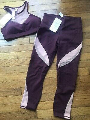 NWT ~ Fabletics 2 Piece Outfit Capri And Bra ~ Small