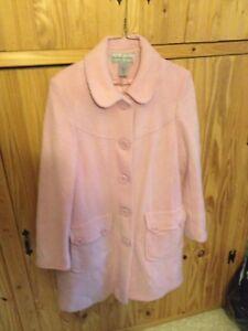 Ladies pink wool  coat