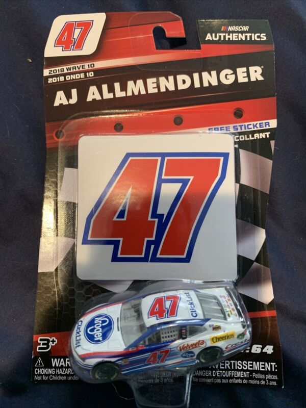 AJ Allmendinger 2018 Kroger Clicklist #47 NASCAR Authentics Wave 10 Diecast 1//64