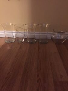 Glass vases assorted