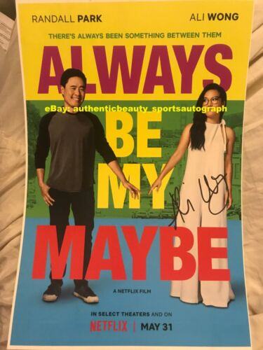 ALWAYS BE MY MAYBE RANDALL PARK KEANU REEVES ALI WONG SEXY SIGNED 12x18 REPRINT