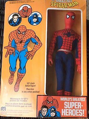 Vintage Mego Spiderman FIgure Large 12 inch Factory sealed MIB Box 1977