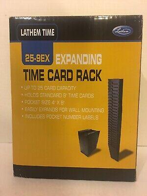 Time Card Expanding Rack Lathem Time 25-9ex