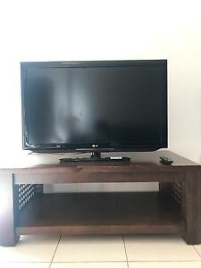LG 42 inch LCD TV included timber TV Entertainment Cabinet Calamvale Brisbane South West Preview