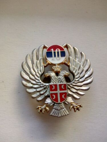 10 th batallion mp Bosnian Serbs army cap badge