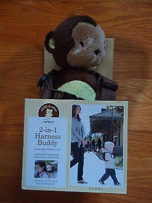 NIB Child Of Mine Carters 2 In 1 Harness Buddy Plush Monkey New 18 months (Child Of Mine 2 In 1 Harness Buddy)