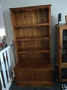 Timber bookshelf with storage Edensor Park Fairfield Area Preview
