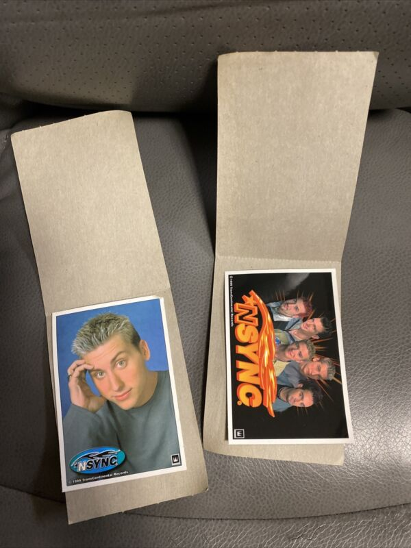 Vintage NSYNC WALLET SIZE PICTURES 1999 Winterland Trans Continental Records