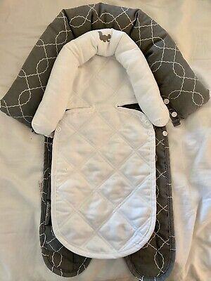 Eddie Bauer Gray White Car Seat Carseat Infant Baby Headrest Support Insert Set Eddie Bauer Car Seat