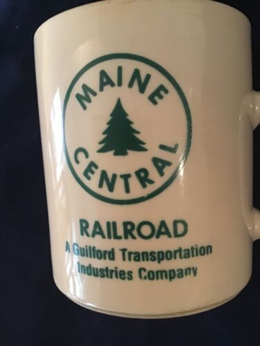 Vtg Maine Central Railroad Coffee Mug Cup Guilford Transportation Industries