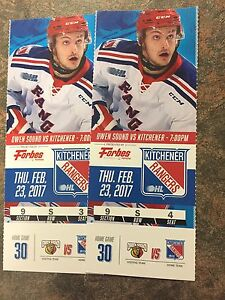Kitchener Rangers vs Owen Sound Attack - Thursday