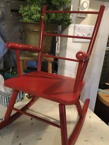 Red kids rocking chair