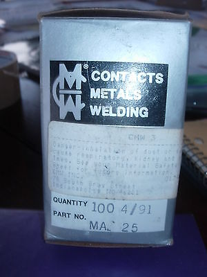 Cmw Ma -25 Spot Welding Tipselectrodes 100 Per Box -new