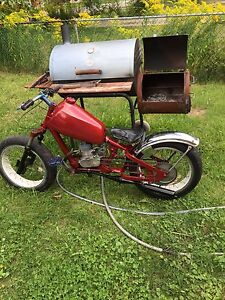 Chopper bicycle with motor