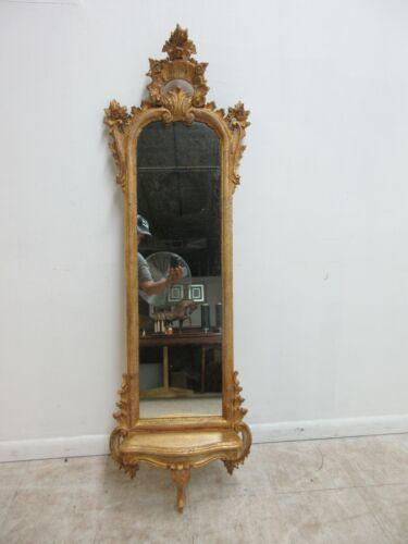 Labarge Gold Gilt Wood Carved French Regency  Mirror Italian Regency Wall Shelf