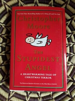 Stupidest Angel by Christopher Moore signed hardcover