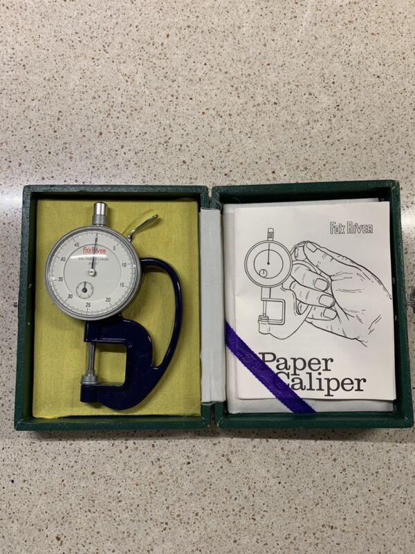 """Rare 4.5"""" Fox River Paper Co. Dial Thickness Gauge - Japan"""