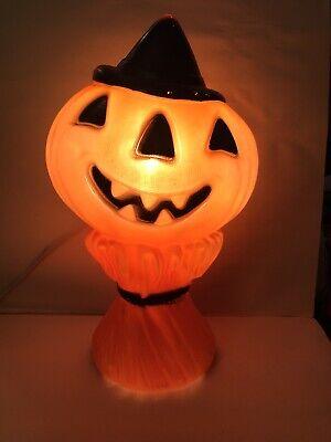 "Vintage Halloween PUMPKIN Jack-O-Lantern Blow Mold 1969 Empire Plastic Co. 15"""