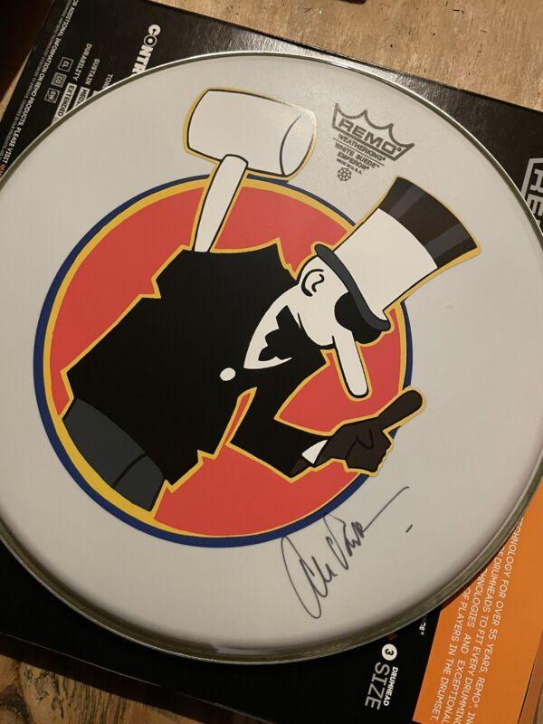"signed Alex Van Halen 13"" Drumhead"
