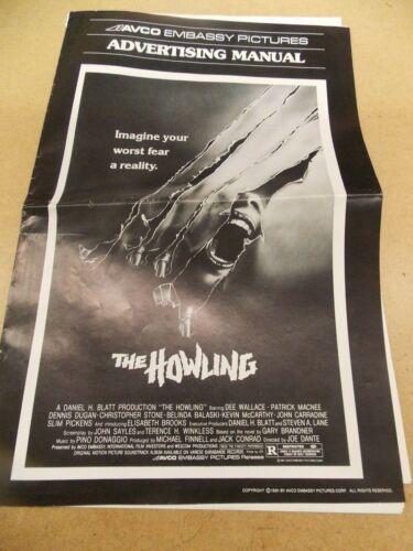 THE HOWLING(1981)DEE WALLACE ORIGINAL PRESSBOOK & AD SUPPLEMENT UNCUT NICE!