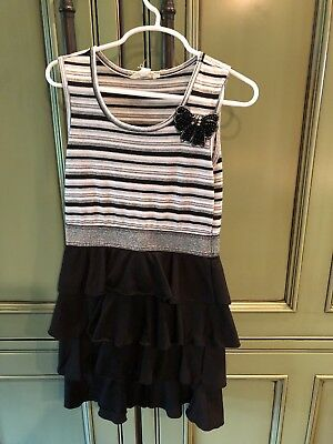 HTG Black Party Dress Girls Size Small (7)