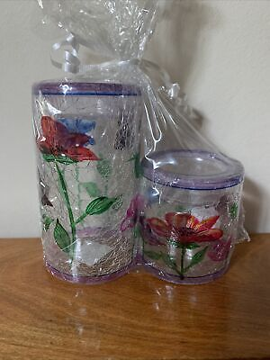 NWT Yankee Candle Poppy Crackle Tea light Candle Holders