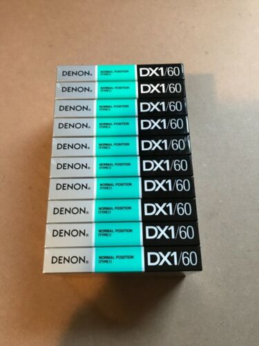 Set of 10 New Sealed Denon DX1 60 Cassette Tapes Made in Japan