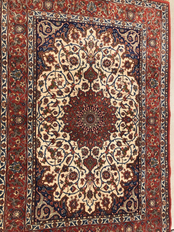 """AN AWESOME SIGNED FLORAL ESFAHONI RUG 5'2"""" x 3'6"""""""