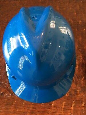 MSA Safety Hard Hat Protective Helmut Type 1 Size Medium Blue Costume - Costume Hard Hats