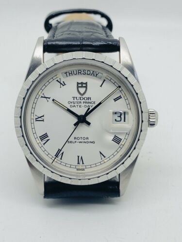 Vintage Rare Tudor Oyster Prince Day-Date Automatic By Rolex, Buckley Dial 94510 - watch picture 1
