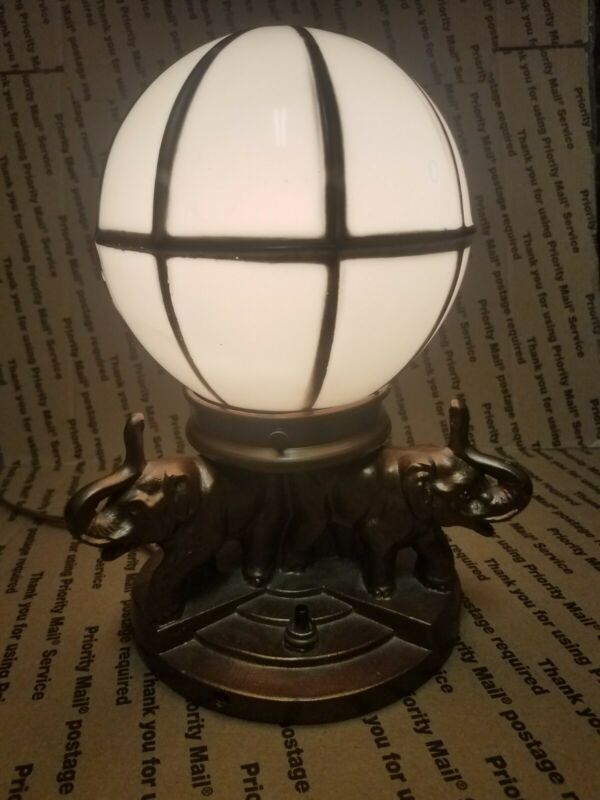 Antique Nuart Art Deco Elephant Figural Globe Lamp; Stunning! WORKS!