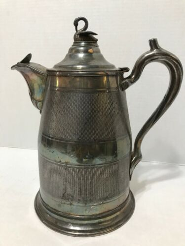 Antique/vintage Silver Plated Water Pitcher June 13 1868 Swan