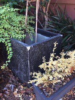 Large Black Square Pot