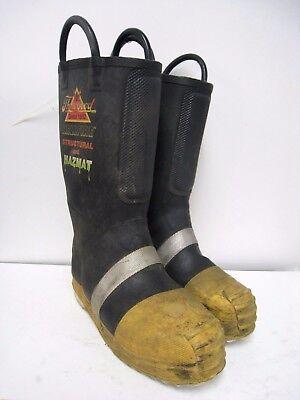 Thorogood Structural Hazmat Steel Toe Firefighter Fire Boots Size 8 Medium