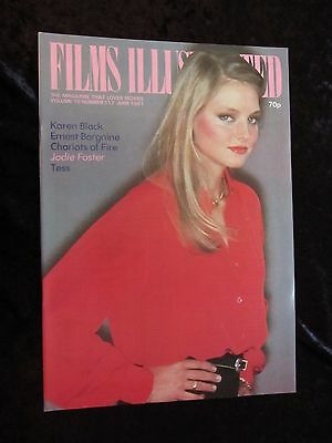 JODIE FOSTER cover, Films Illustrated 1981, FOXES