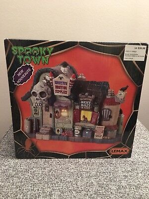 Halloween Lemax Spooky Town, Monster Hunting Supplies 2018 NEW Lights - Halloween Town Monster