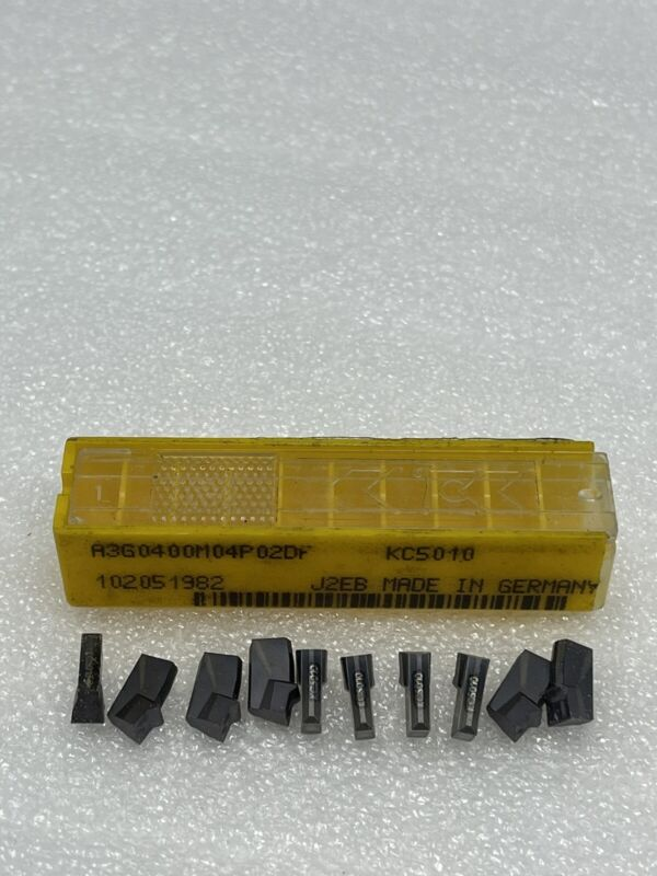 Pack Of (10) New Kennametal Carbide Inserts, A3G0400M04P02DF, Grade KC5010