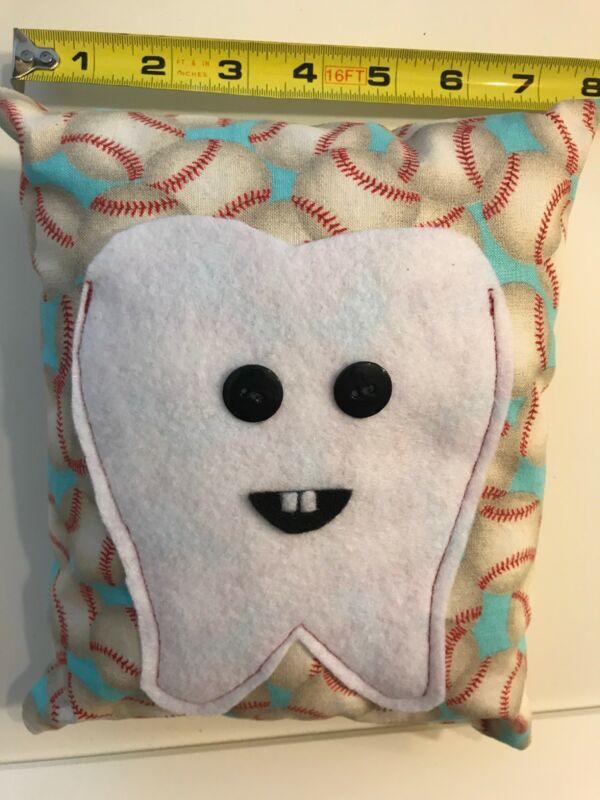 Tooth Fairy Pocket Pillow Baseball MLB Lets Play Ball!