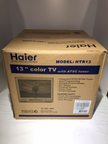 """⭐️Haier """" 13"""" Color  Stereo  Gaming  CRT Tv """"New Sea"""