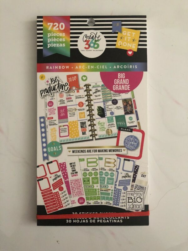 Create 365 The Happy Planner Rainbow Edition Sticker Book 720 Pieces