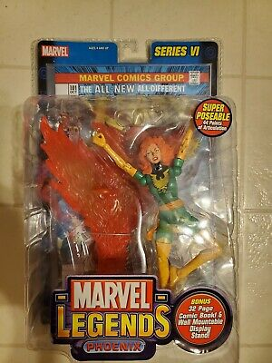 Marvel Legends Toy BIZ Jean Grey Phoenix dark green x-men classic mint moc nib