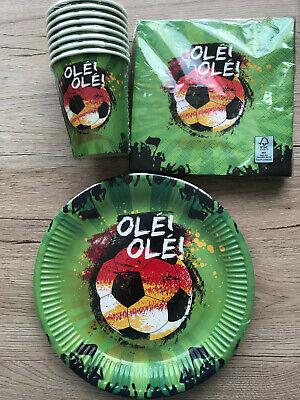 Pappbecher Pappteller Servietten Deko Fußball Party Kinder Geburtstag