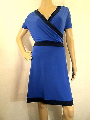 NEW YORK & CO. Dark & Navy Blue Short Sleeve Jersey Dress, Size XL